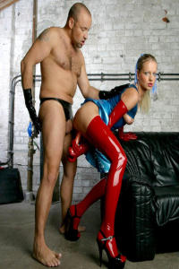 Latex and Rubbergirl in anal action 7