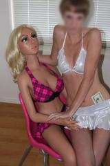 LOVE DOLL TINA and a kinky lesbian girl