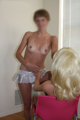 LOVE DOLL TINA and real girl play with tits