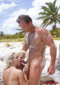 Two blondes get hardly drilled on the beach
