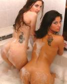 Ebina girls wet in bathtub