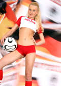Young Poland female soccer fan
