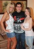 Lucky guy with two horny milfs