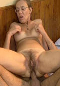 Old Granny Get Her Hairy Pussy Fucked