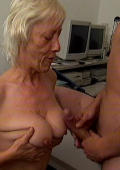Granny Get her Pussy and Nice Old Boobs Fucked