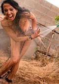 Wet slavegirl outdoor BDSM.